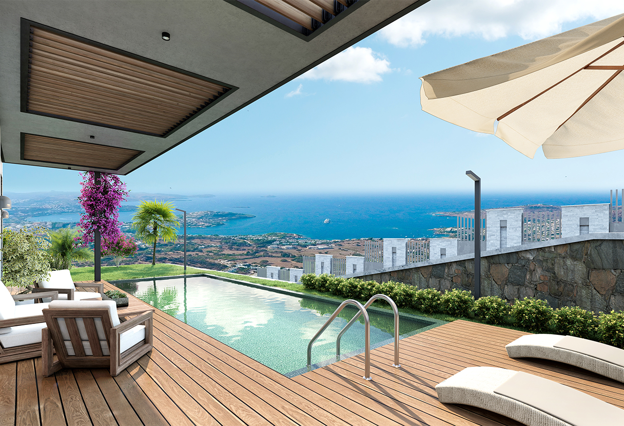 Live in the Midst of Nature and Overlooking the Sea in Charming Bodrum